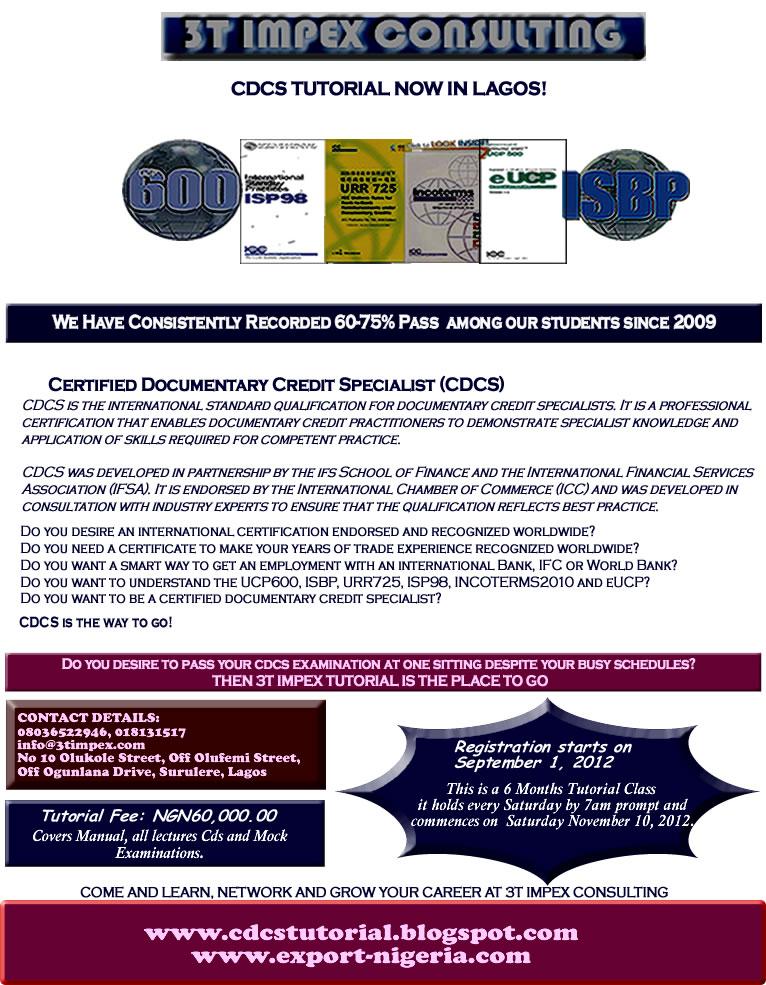 Cdcs Tutorial In Nigeria