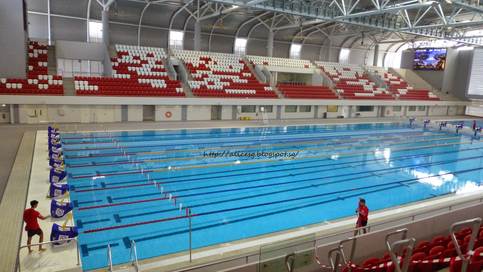 Alicesg Singaporemyhome Singapore Sports Hub Swimming Pool Library And Playground