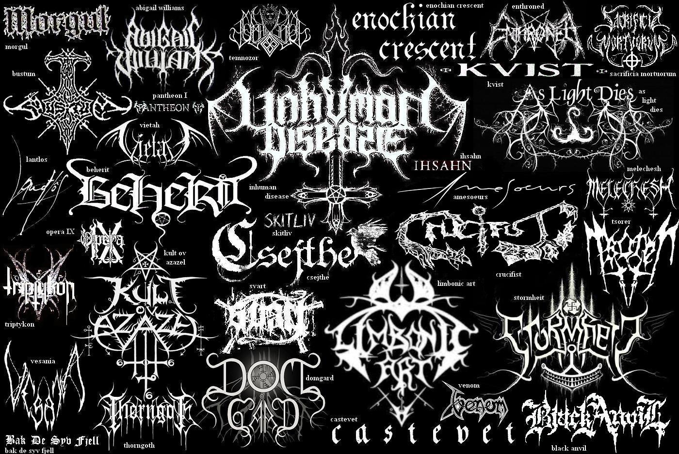 how to create a black metal logo