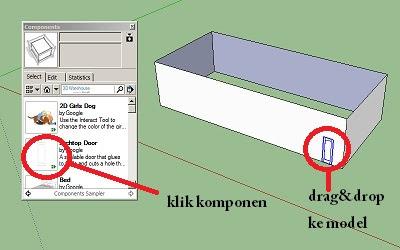 Cara membuat pintu dan jendela pada Google SketchUp-1