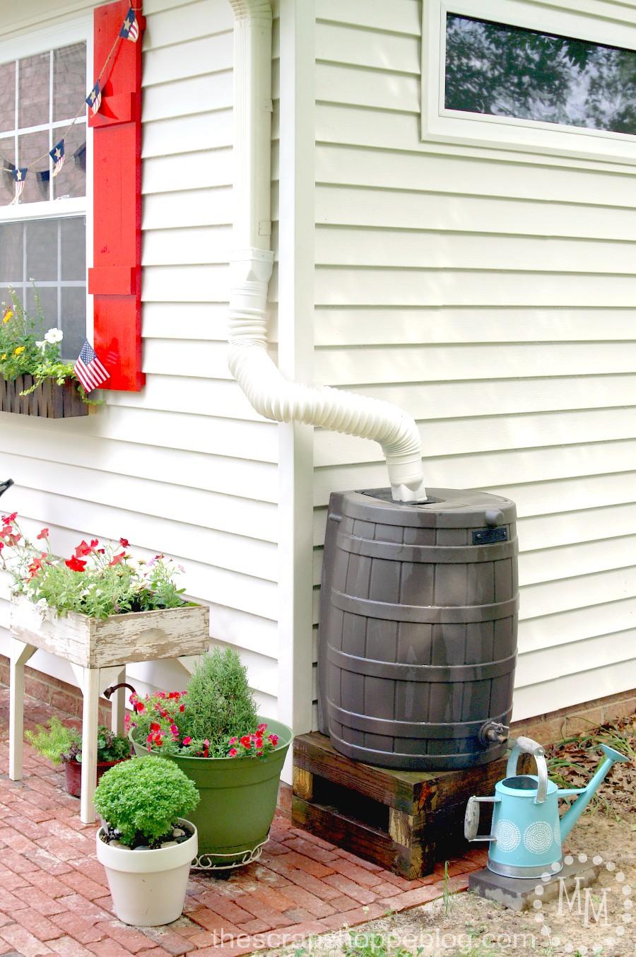 How to install a rain barrel the scrap shoppe for Diy small rain barrel
