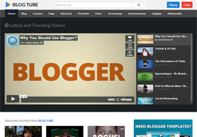 blogtube professional video blogger template 2014 for blogger or blogspot