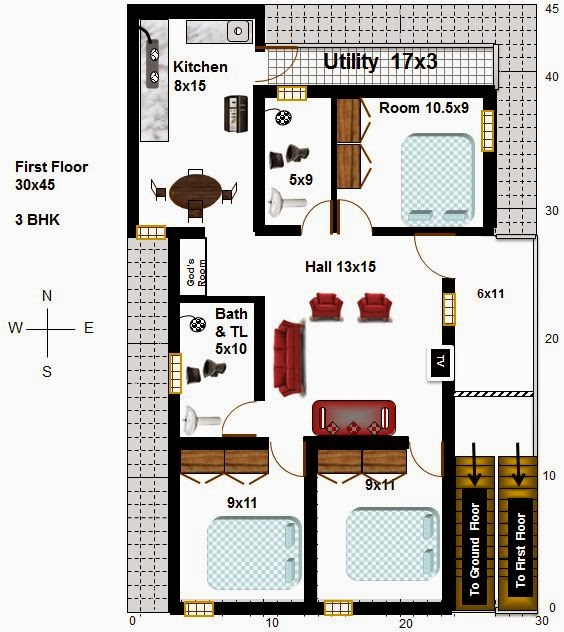 My Little Indian Villa: #10 3 houses in 30x45 (South facing) on 26 x 50 house plans, 40 x 60 house plans, 36 x 36 house plans, 40 x 70 house plans, 40 x 80 house plans, 20 x 50 house plans, 16 x 20 house plans, 20 x 40 house plans, 24 x 36 house plans, 28 x 50 house plans, 10 x 20 house plans, 24 x 50 house plans, 15 x 15 house plans,