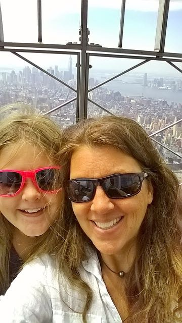 Mommy and Alex at the Empire State Building