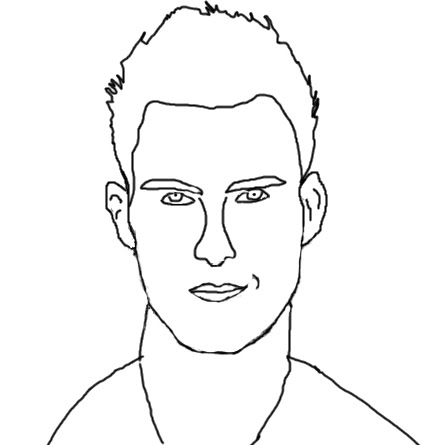 Isabella\'s Digital Art Blog: Celebrity coloring book- Adam Levine