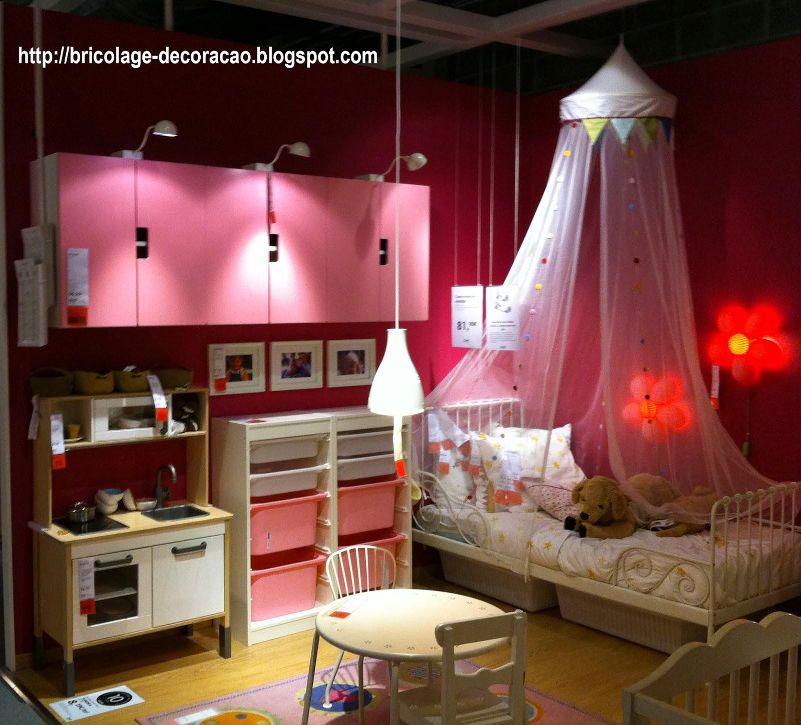 Bricolage e Decoração Ideia para Quarto de Menina do Ikea