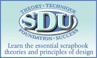 I am a certified instructor for Scrapbook Design University