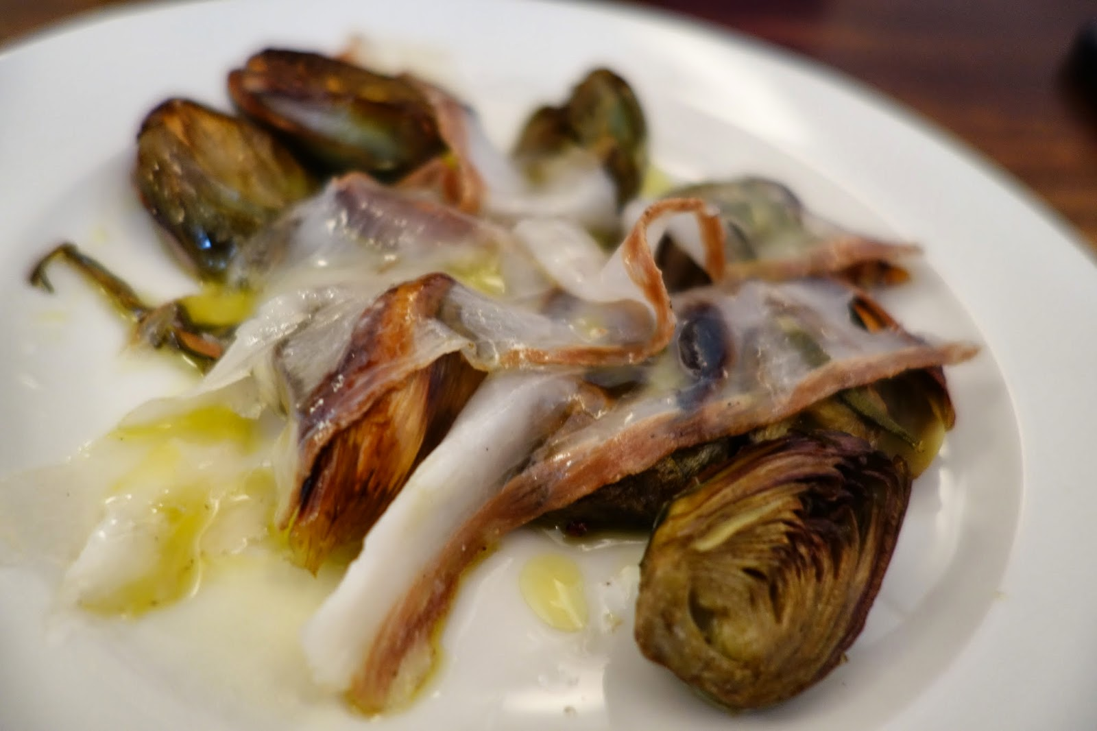 Artichokes at Ducksoup