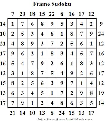 Frame Sudoku (Daily Sudoku League #129) Solution