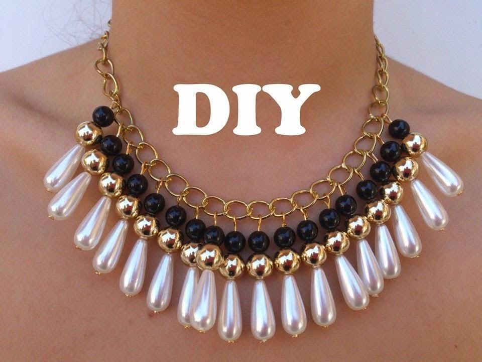 Collar \u0026quot;DIY de Perlas y Lagrimas Perlas\u0026quot;.