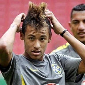 Neymar training with Brazil national team