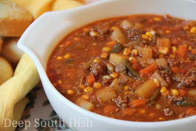 Beefy Vegetable Soup Hobo Stew