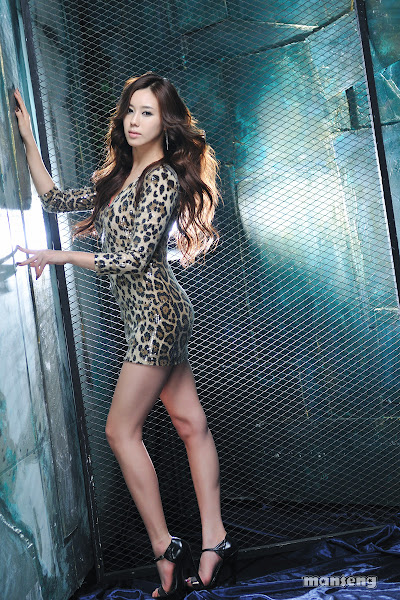 Kim Ha Yul Leopard Dress 02 Kim Ha Yul photo sexywomanpics.com