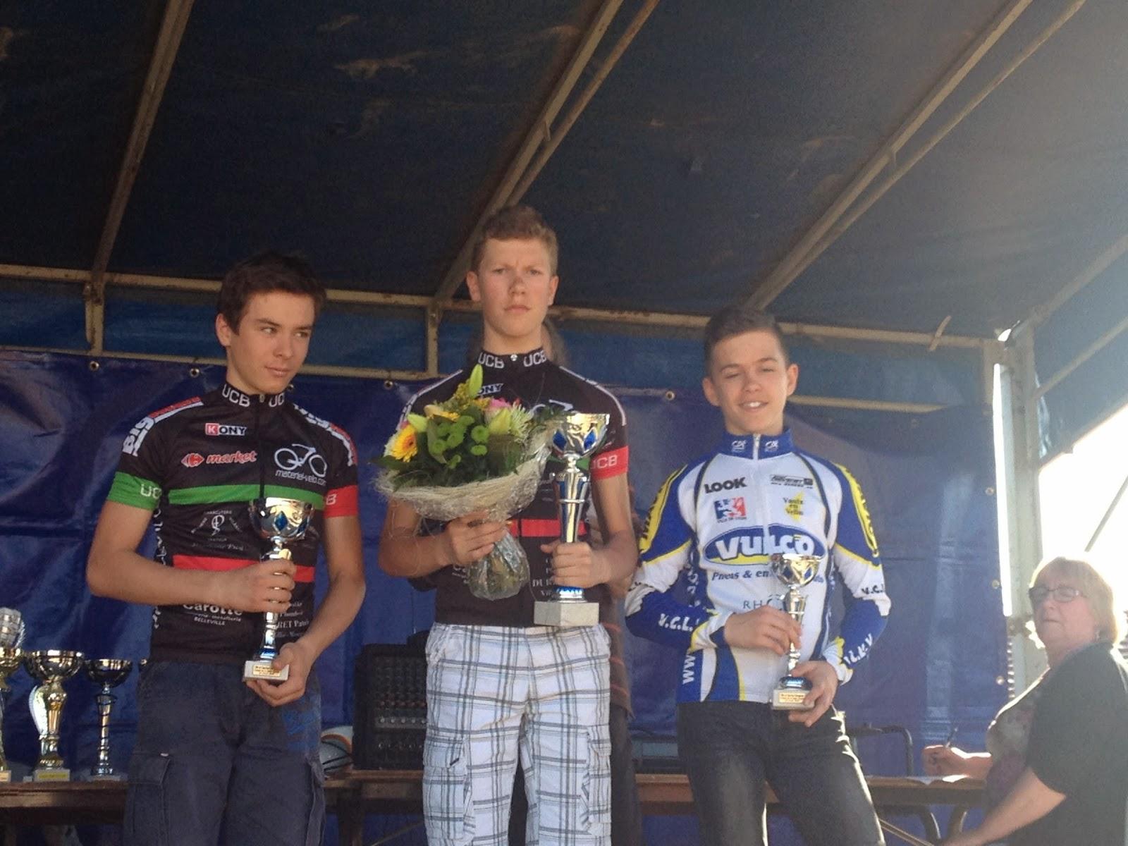 Union cycliste bellevilloise ucb r sultats du weekend for Garage volkswagen saint maurice l exil