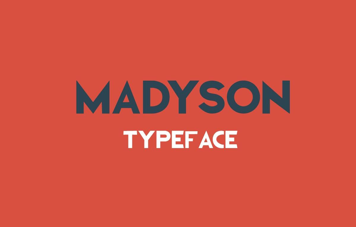 Download Gratis Font Terbaru September 2015 - Madyson Typeface