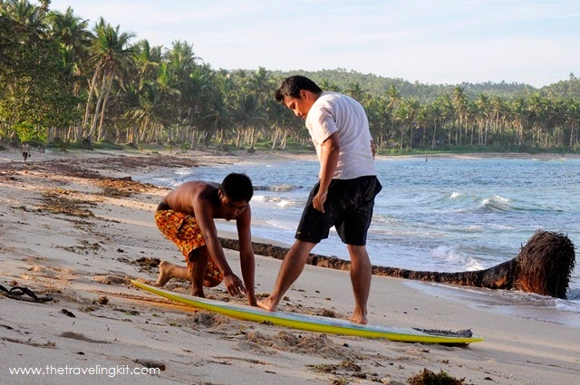 Surfing in Burgos Siargao