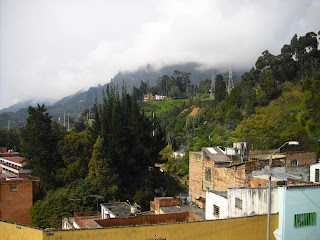 Pylons in the hills around Bogotá