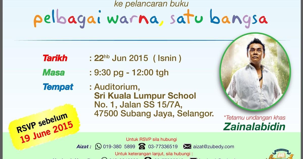 anas zubedy: Invitation: Book Launch - Pelbagai Warna Satu