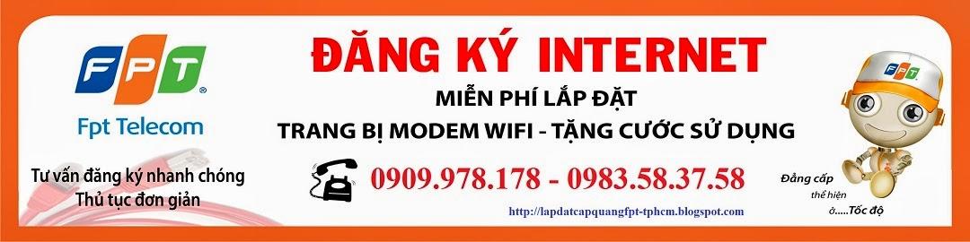 Lắp đặt Internet Cáp Quang FPT - TP HCM
