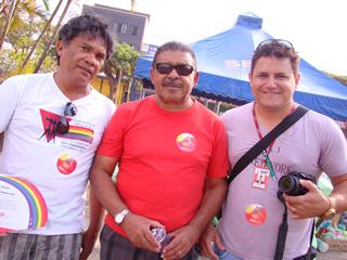 Thesco, Alex Miranda e Edson Luiz, representantes da Administração. (Foto: Hernanny Queiroz/Gay1)