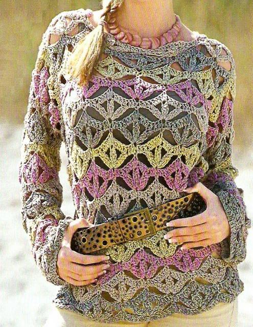 Crocheting A Sweater : Crochet Sweaters: Sweater - Crochet Sweater For Women