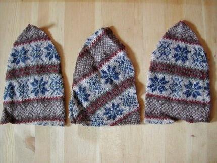 przerobka swetra na czapke