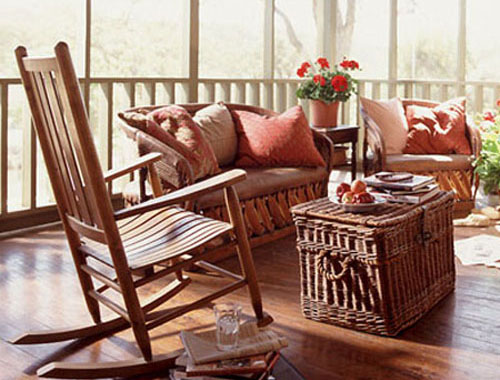 Wooden Decorating Ideas for Porch