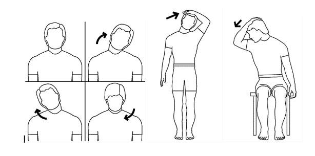 Resultado de imagen para estiramientos en cuello
