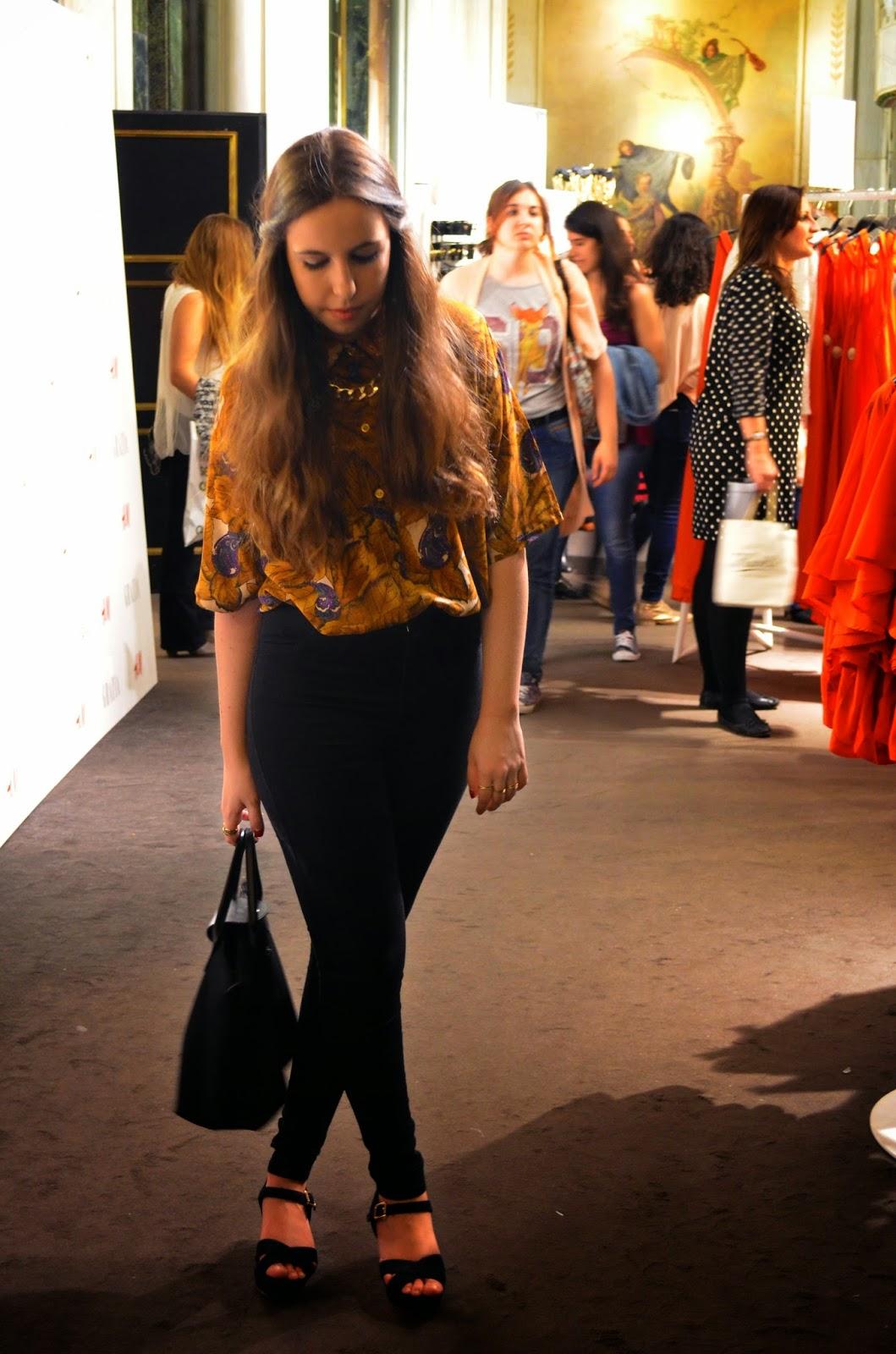 hey vicky hey, victoria suarez, h&m, conscious collection, vintage, hipster, hipster girl. estampado de hojas