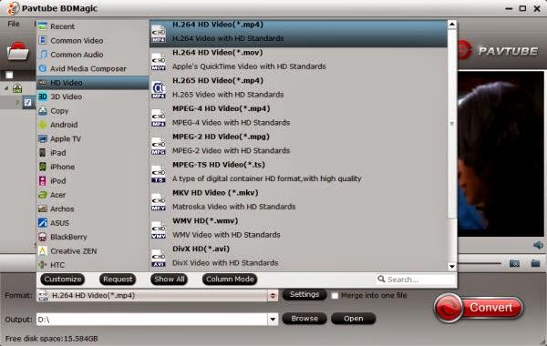 Smart TV video format