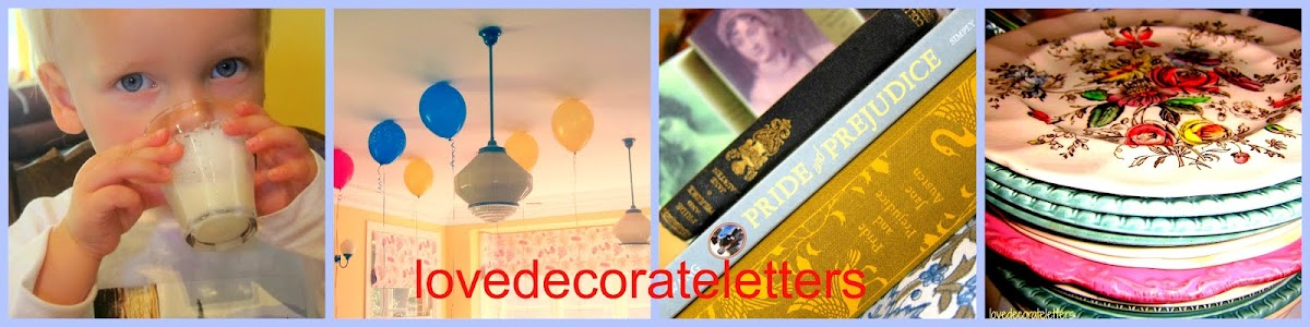 lovedecorateletters