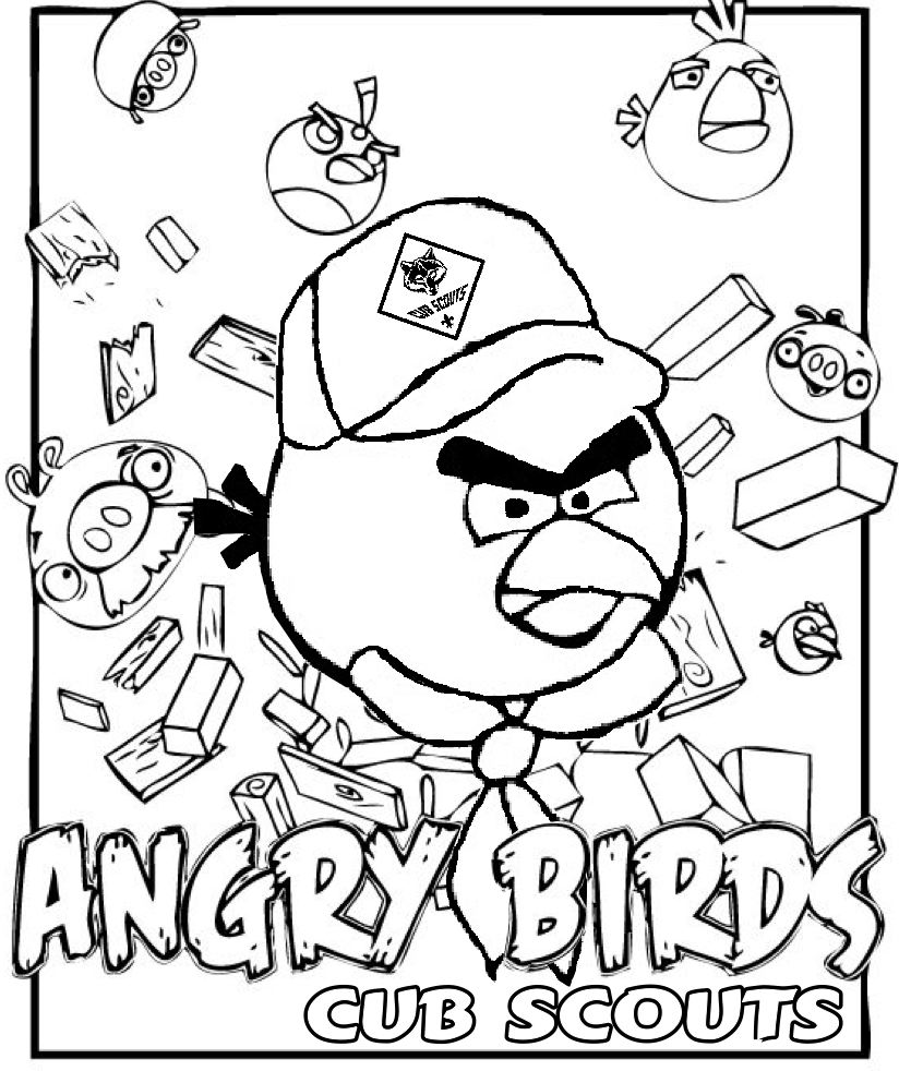 Akelas Council Cub Scout Leader Training Angry Birds Coloring Page