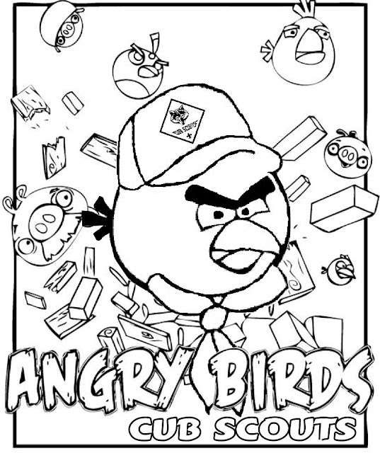 Akela S Council Cub Scout Leader Training Angry Birds Scout Junior Coloring Pages Free