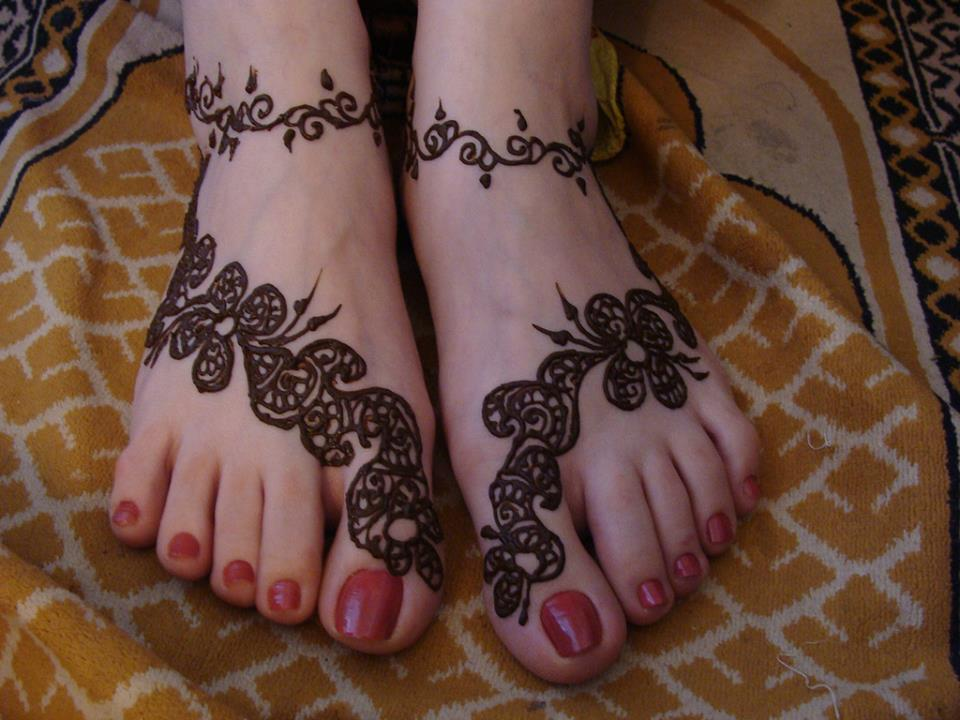 Mehndi Foot Designs Latest : Latest bridal feet mehndi designs beautiful