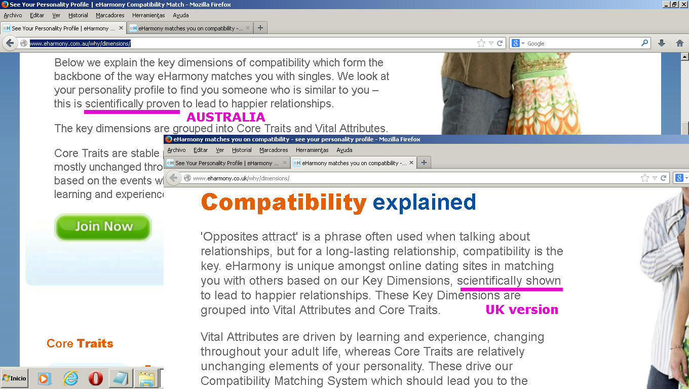 dating online compatibility Matchcom is the number one destination for online dating with more dates, more relationships, & more marriages than any other dating or personals site.