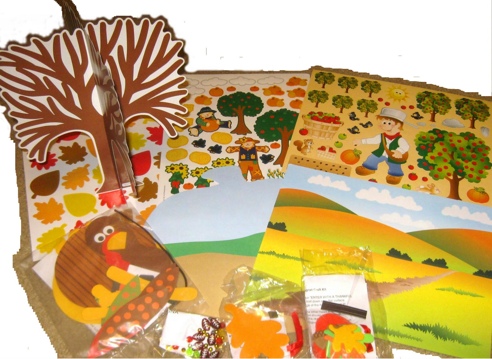 Craft kits for preschoolers - Inside The Thanksgiving Craft Kit For Preschoolers You Will Find
