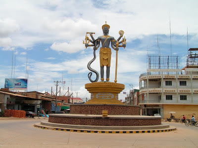 Another street statue in Battambang, Cambodia