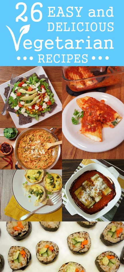26 easy vegetarian recipes