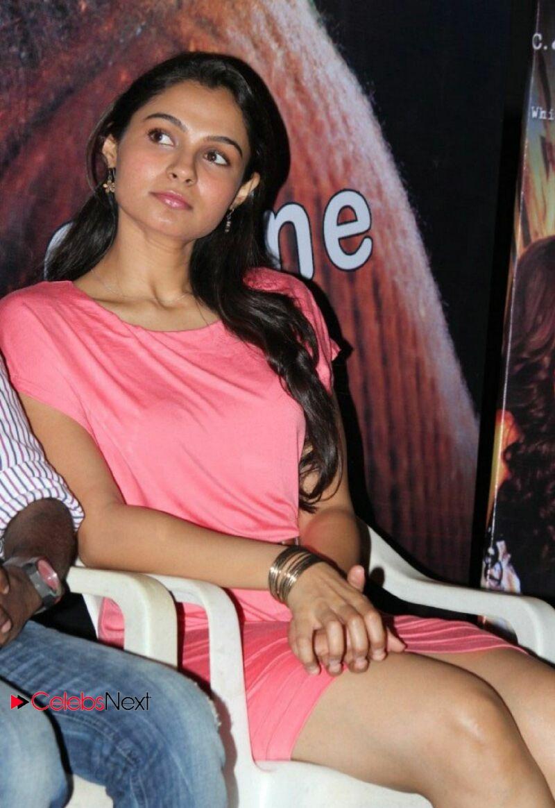 Andrea Hot Photos Pink Short Dress At Virattu Single Track Launch Celebsnext Telugu Actres Thunder