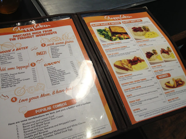 Slappy Cakes menu