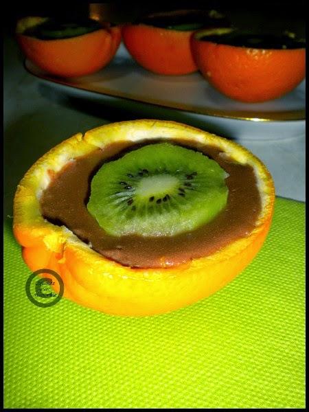 Crème chocolat/orange dans sa coupelle