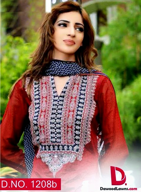 Dawood Aalishan Chiffon Lawn Collection 2014 Vol. 6