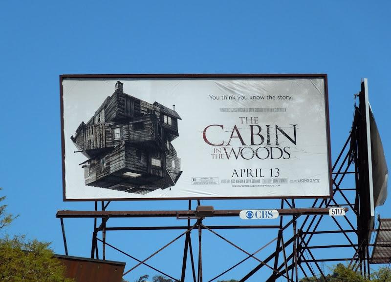 Cabin in the Woods billboard