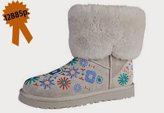 Зимняя обувь, замшевые валенки с вышивкой UGG Australia