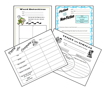 https://www.teacherspayteachers.com/Product/Literacy-Worksheets-for-any-book-95724