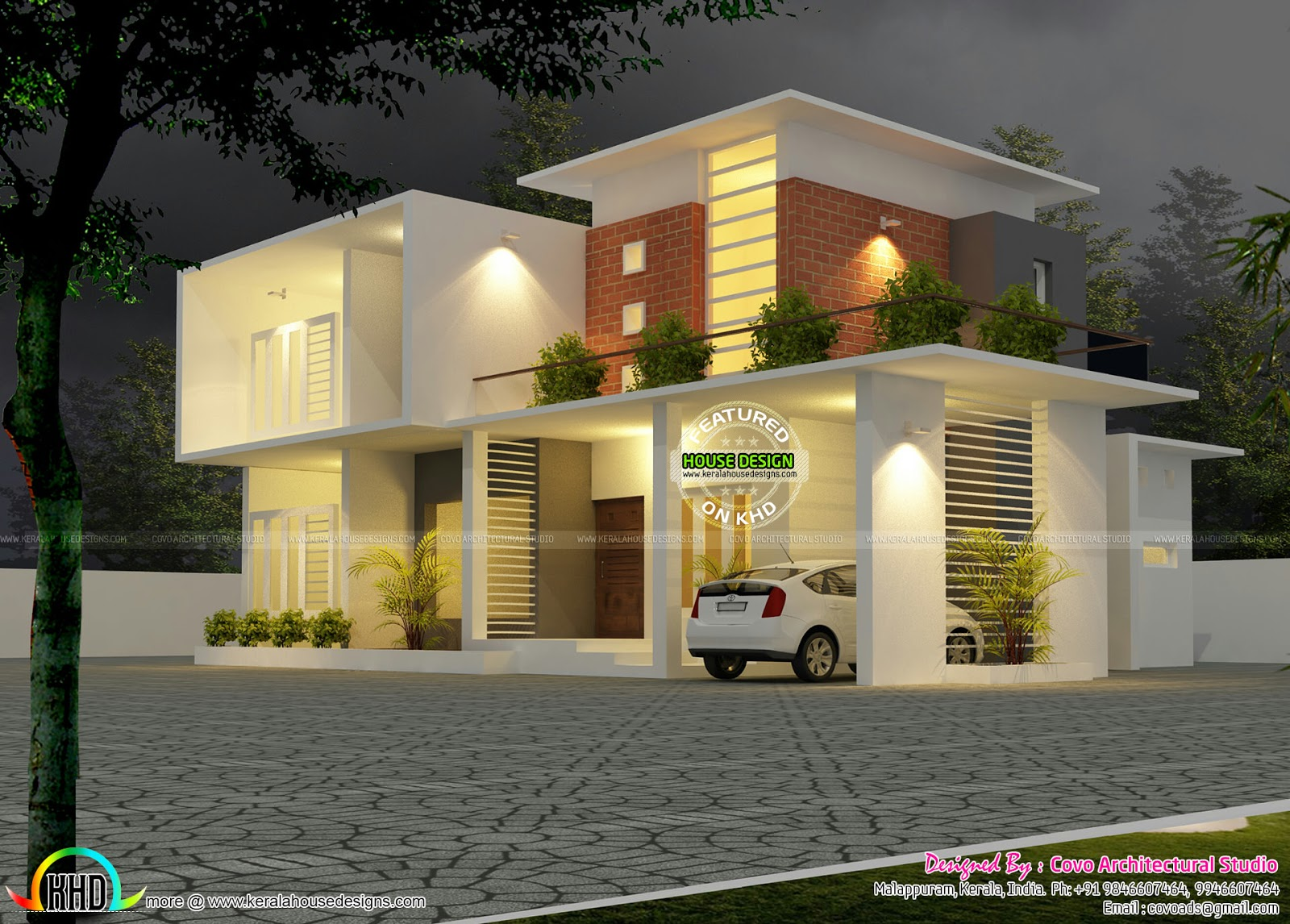 2500 sq ft home kerala home design and floor plans for Home gallery design