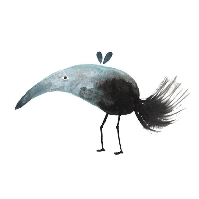 Inktober: dibujo a tinta, animal imposible, mancha de tinta