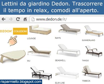 Risparmiello lettini da giardino dedon for Lettini da terrazzo