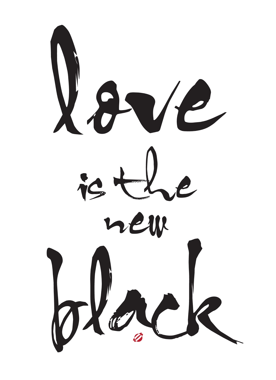 LostBumblebee ©2014 Love is the New Black -FREE Printable Personal Use Only.