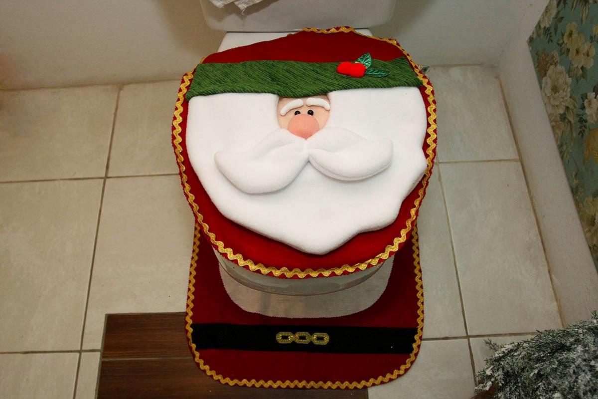 PQNOS DETALHES Um banheiro lindo neste Natal -> Decoracao De Banheiro Pq